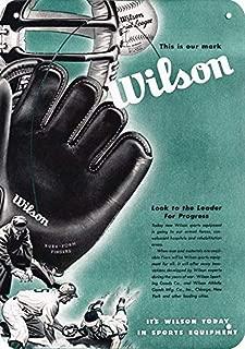 Yilooom 1945 Wilson Sporting Goods Replica Metal Sign 7