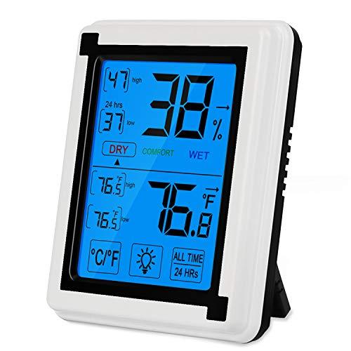 Zorara Termómetro Higrometro Digital, Termómetro Higrometro para Interior, Profesional Mini LCD Temperatura y Humedad para Medir Ambiente del Hogar