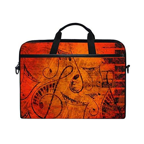 jstel Vintage Musical Note mit Piano Laptop Schulter Messenger Tasche Fall Sleeve für 35,6cm zu 39,6cm mit verstellbarer Notebook Schultergurt