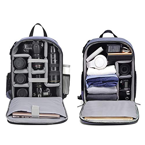 Cwatcun Camera Backpack DSLR SLR Camera Bag with 15.6 Inch Laptop...