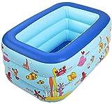 FLYAND Falten Sie Eindickung aufblasbare Badewanne, Haushalt verdickte Plastic Pool Einfache Blase Planschbecken
