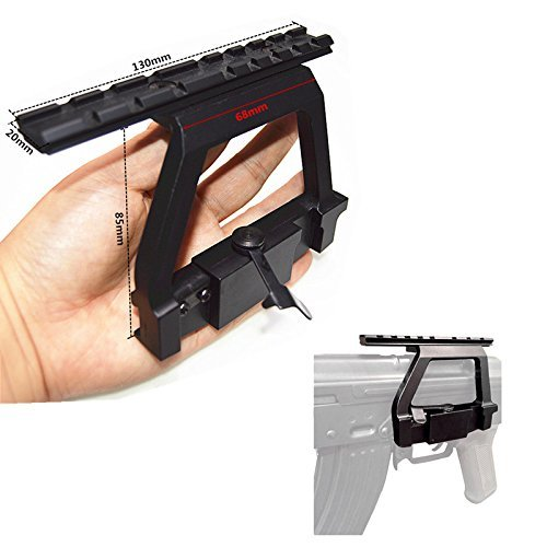 FIRECLUB New A-k 47 Scope Mount Tactical Heavy Duty Scope Mount Base Saiga HOT 47 A-k Heavy Duty Mount Side Rail Base for Airsoft 20mm Rail Scope Sight New