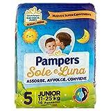 Pampers - Sole e Luna - Pañales - Talla 5 (11 - 25 kg) - 16 pañales