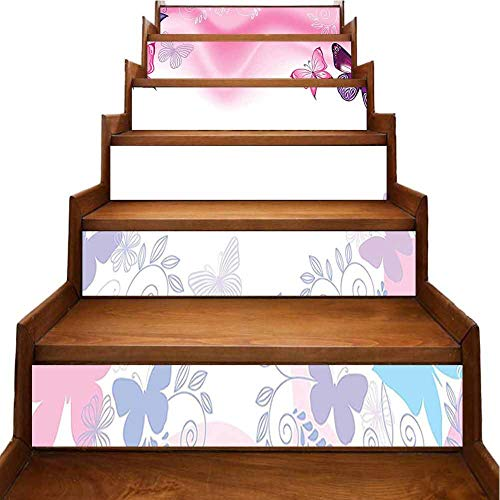 Calcomanías autoadhesivas para cocina, diseño de princesa duerme en la cama, cuento de hadas, ramo de flores, caballo, unicornio, para decoración de casa,, rojo ((Red-05), 7'x39.3'x6pcs