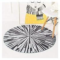 カーペット 創造的な幾何学的なスプラッシュ抽象的な丸いカーペットの寝室のコンピューターの椅子敷物のリビングルームのコーヒーテーブルのカーペット子供の部屋のゲームマット (Color : 6, Size : Diameter 150cm)