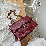 YIHUI Bolso de Las señoras Bolso de Hombro para Mujer Bolso Grande para Mujer Bolso de Mensajero de Cuero PU Bolso Casual Bolso de Mensajero de Moda Bolso de Hombro versátil Negro para Mujer