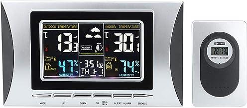 Ginyia Termómetro, TS-102G LCD Termómetro Digital Higrómetro Temperatura Humedad Temperatura Tester Pantalla de Tiempo