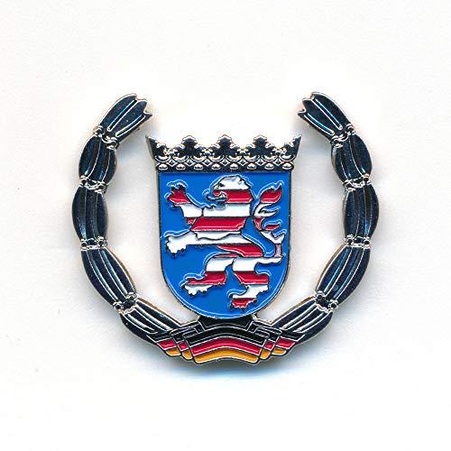 hegibaer Land Hessen Wappen Wiesbaden Frankfurt Deutschland Badge Pin Anstecker 0921