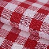 Hans-Textil-Shop Stoff Meterware Vichy Karo 1x1 cm Rot