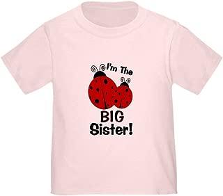 CafePress I'm The Big Sister! Ladybug Toddler Toddler Tshirt