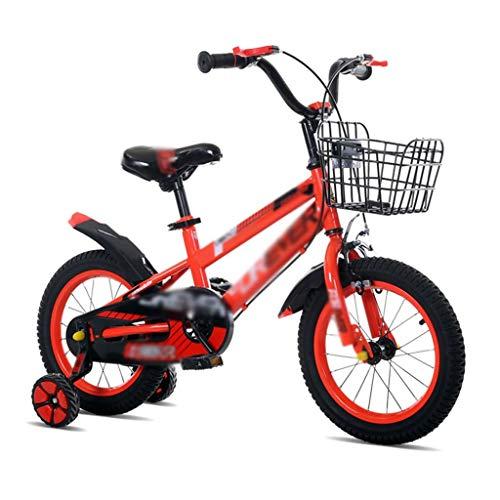Biciclette Bici per Bambini Triciclo Passeggino Mountain Bike Bambini Equilibrata Puzzle Walker Bambini con Ruota Ausiliaria Regalo per Bambini (Color : Red, Size : 12 Inches)