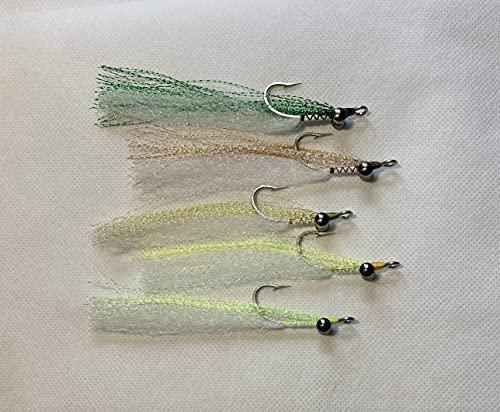 Haggerty Lures Clouser Deep Minnow -Crystal Flash Flies-Greens