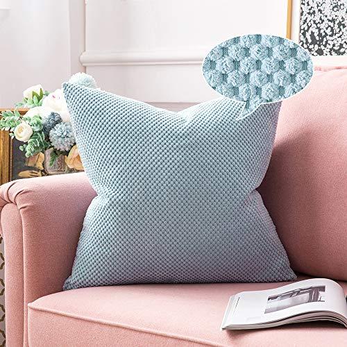 MIULEE 1 Stück Granulat Kissenbezug Ananas Weiches Massiv Dekorativen Quadratisch Überwurf Kissenbezüge Kissen für Sofa Schlafzimmer 18