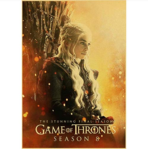 manyaxiaopu Game of Thrones Season 8 Poster TV Play Poster and Prints Wall Art Painting For Home Room Decor Wall Sticker Pintura Sin Marco B24 40X50Cm