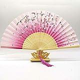 Bambus Falten Handfächer Hochzeit Fan Faltfächer Geschenk eventail waaiers, Papier fan05 BBGSFDC (Color : 13)