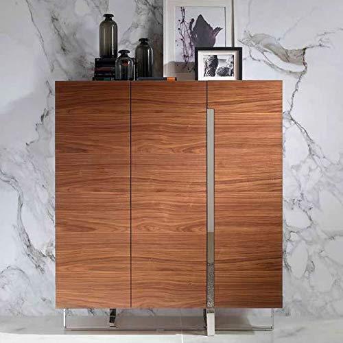 Dressoir hoog, modern, kleur notenhout