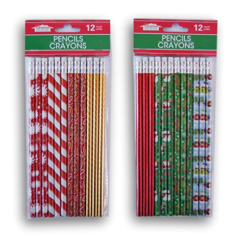 Christmas Winter Themed Pencil Set - 24 Count
