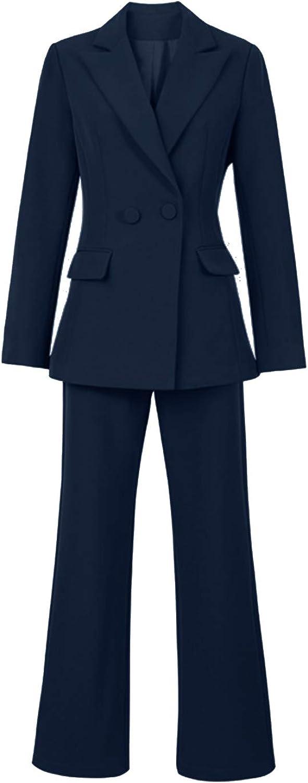 Women's Suit for Work 2 Pieces Formal Office Suits Set Blazer & Pants Set