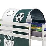 IDIMEX Tunnel Max Tente cabane pour lit surélevé Coton Motif Foot Vert Blanc