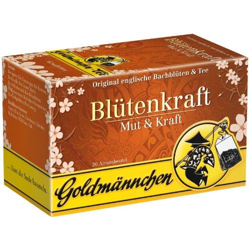 Goldmännchen Bachblüten Tee Blütenkraft Mut & Kraft, Blütentee, 20 einzeln versiegelte Teebeutel