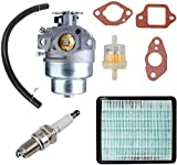 Carburador + Filtro de aire Bujía para GCV160 Motor HRB216 HRR216 HRS216 HRT216 HRZ216 Cortadora de césped con junta Kit de filtro de aire de combustible de bujía