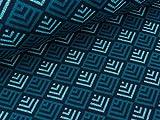 Albstoffe Hamburger Liebe Jacquard Sparkle Tiles Blue