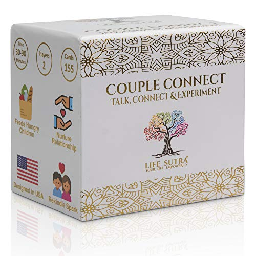 Life Sutra Couples Games - by USA Psychologist - 100+ Conversation Starters and Fun Activities - Improve Mindfulness, Communication, Romance and Trust - Card Game for Adults