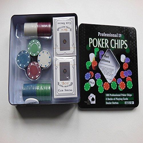 New York Cadeau 4 en 1 Professionnel de Poker Chips