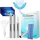 Teeth Whitening Kit Professional, OUZIGRT Teeth Whitening Kit with Led Light, 3 Teeth Whitening Pens, 15 Min Fast-Result Teeth Whitener, Non-Sensitive Teeth Whitening Kit at Home Travel Use