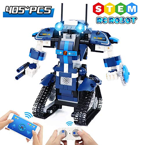 STEM Building Blocks Robot for Kids, Remote Control Robot Building Kit Educational Construction Toys Gifts for Boys Girls Teens 7 8 9 10+ Yr Old (349pcs)