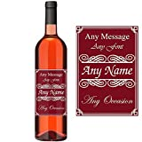 Personalised Wine Bottle Label, Add Any Name and Message, Just Peel and Stick onto Your Bottle