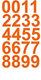1.5' Inch Premium Mailbox Number Vinyl Decal Sticker Sheet (Orange) | Waterproof and Fade-Resistant | Easy to Install Adhesive Vinyl Digits | Home, Apartment, Condo or Business by CustomDecal US
