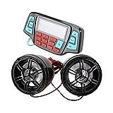 LQNB Reproductor De Musica Mp3 De Motocicleta Altavoz EstéReo Manos Libres De Audio Sistema De Audio Impermeable De Radio FM
