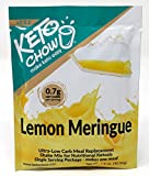 Keto Chow | Keto Meal Replacement Shake | Nutritionally Complete | Low Carb | Delicious Easy Meal Substitute | You Choose The Fat | Lemon Meringue (Single Serving)