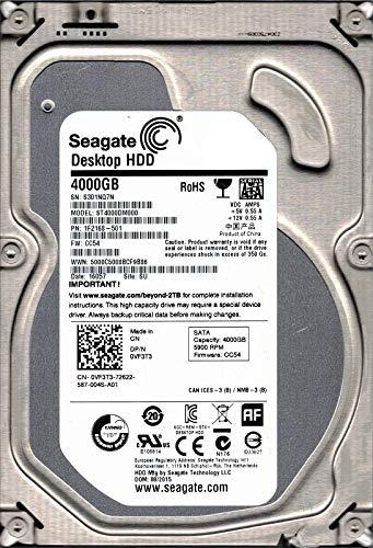 Seagate ST4000DM000P/N: 1F2168–501F/W: CC54SU S30Desktop HDD 4TB