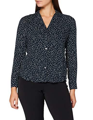 Seidensticker Damen Bluse V-Neck Regular Fit Langarm, Dark Sapphire, 46