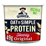 Quaker Oat Protein Original Porridge Pots, 49.5 g, Pack of 6