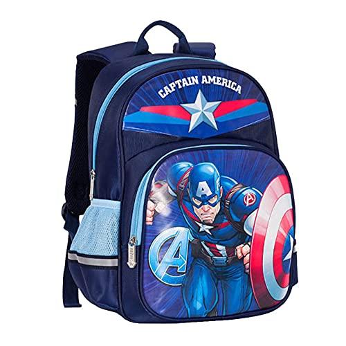 MYYLY Spiderman Sac À Dos Super-Héros Avenger Sac À Dos Sacs À Dos pour Enfants Fille Garçon Cartable Apprendre Cadeau Cartable Préscolaire Primaire Cartable,Blue-38X16X28CM