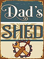 お父さんの小屋、ブリキの看板、ヴィンテージ鉄の絵の金属板ノベルティ装飾クラブカフェバー