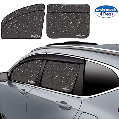 Big Ant Car Window Sun Shade Double Thickness Rear Side Window Auto Windshield Sunshades Universal Fit for rv Truck UV Protection-Sun Glare and UV Rays Protector for Baby Child and Pet 4PCS