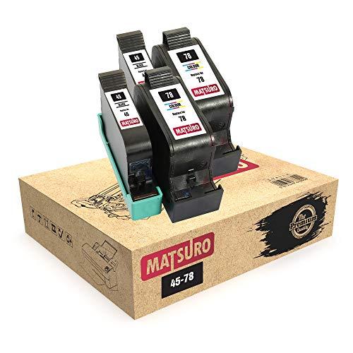 Matsuro Original | Compatible Remanufactured Cartuchos de Tinta Reemplazo para HP 45 78 (2 Sets)