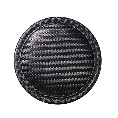 Zcargel Car Water Coaster, Automotive Round Carbon Fiber Cup HolderNon-slip Cup Mat Dustproof Cup Holder Coaster Insert Decorative Cover for Car Cup Holder