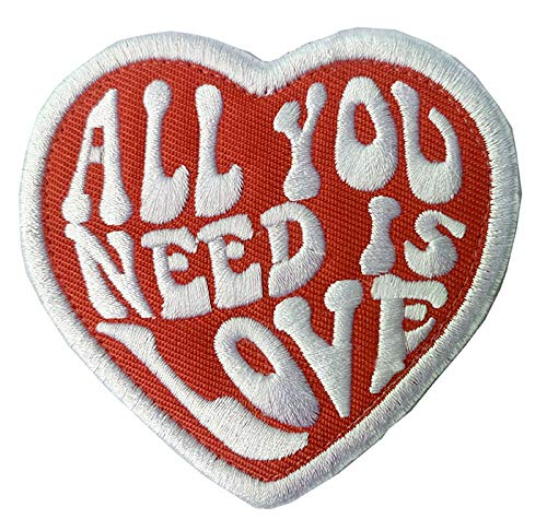Antrix All You Need is Love Military Heart Badge Emblem Patch Hook & Loop Tactical Funny Love Heart Patch -3.15'