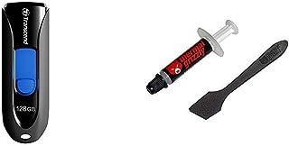 Transcend USBメモリ 128GB USB 3.1 スライド式 ブラック TS128GJF790KBE 【Amazon.co.jp限定パッケージ】 & ドイツ Thermal Grizzly社製 オーバークロック用特別設計高性能熱伝導グリス Kryonaut 1g