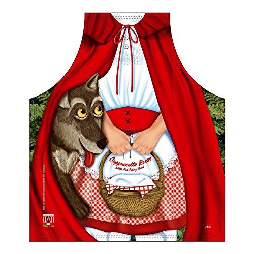 Mega grappig schort met klein schort roodkapje cadeau-artikel voor elke gelegenheid carnaval cadeau-idee plezierartikel