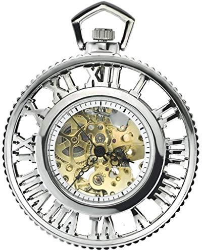 Zakhorloge, Retro Creative Steam Machine Roman Gear automatische Mechanische Pocket Watch, Mode-industrie, Heren Antiek Horloge Goud Zilver Klassiek stijlvol zakhorloge.