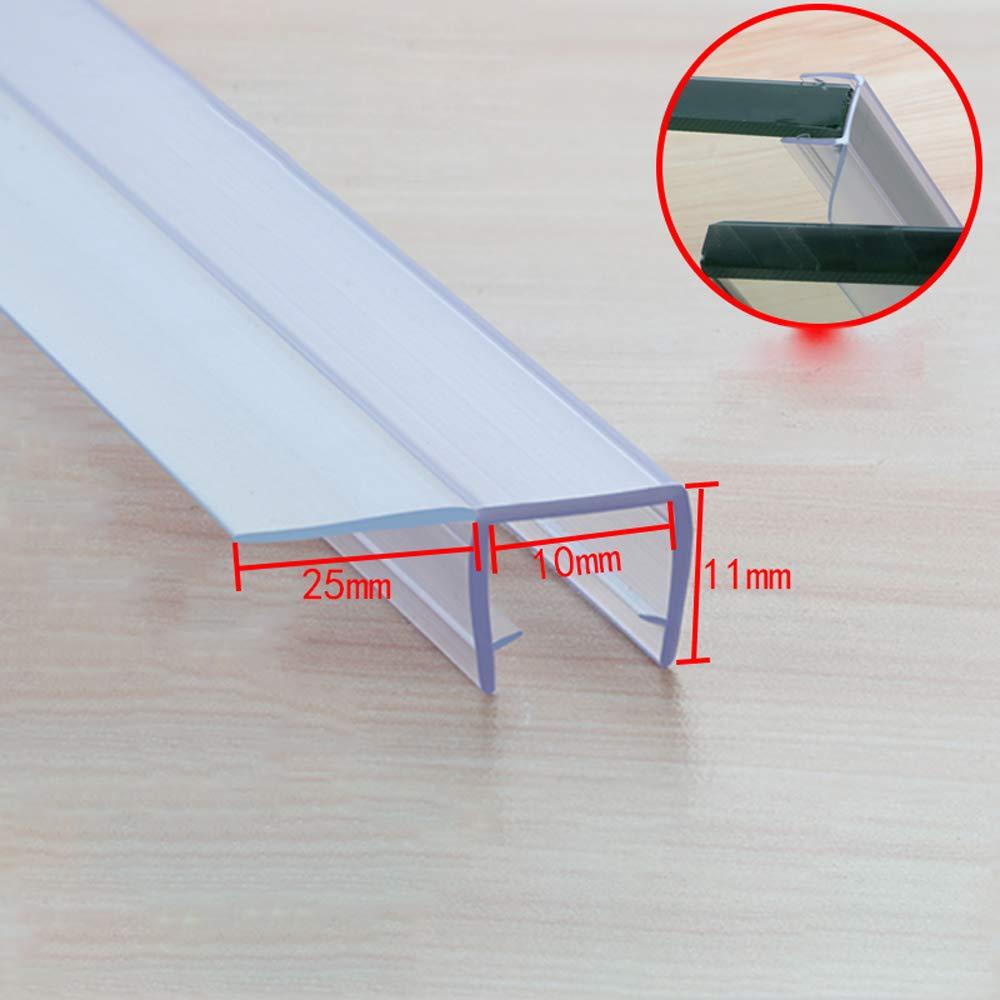 MELAG Junta para mampara de Ducha de 6 a 12 mm,para Vidrio Recto o Curvado,con separación de hasta 25 mm,PVC Grueso,insonorizado,anticolisión: Amazon.es: Hogar