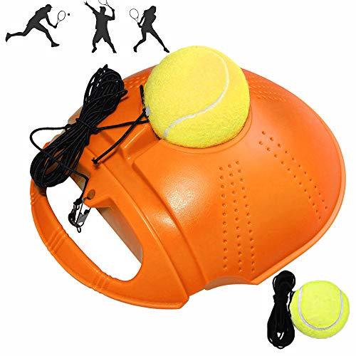 Outinhao Entrenador de Tenis, 2pcs Bolas de Rebote con Cuerda Herramienta de Práctica Entrenamiento, para el Entrenamiento, Niños, Adultos de Tenis para Principiantes