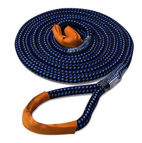 Seilflechter Kinetik-Kernmantelseil, Abschleppseil, 24 mm, 8 m lang, schwarz/blau, BL 8.000 daN (ca. KG), Dehnung >25{9592b0a9c42d08c612c2d385b55a3ac2df47378076ceef29e31f73e754c8825f} !