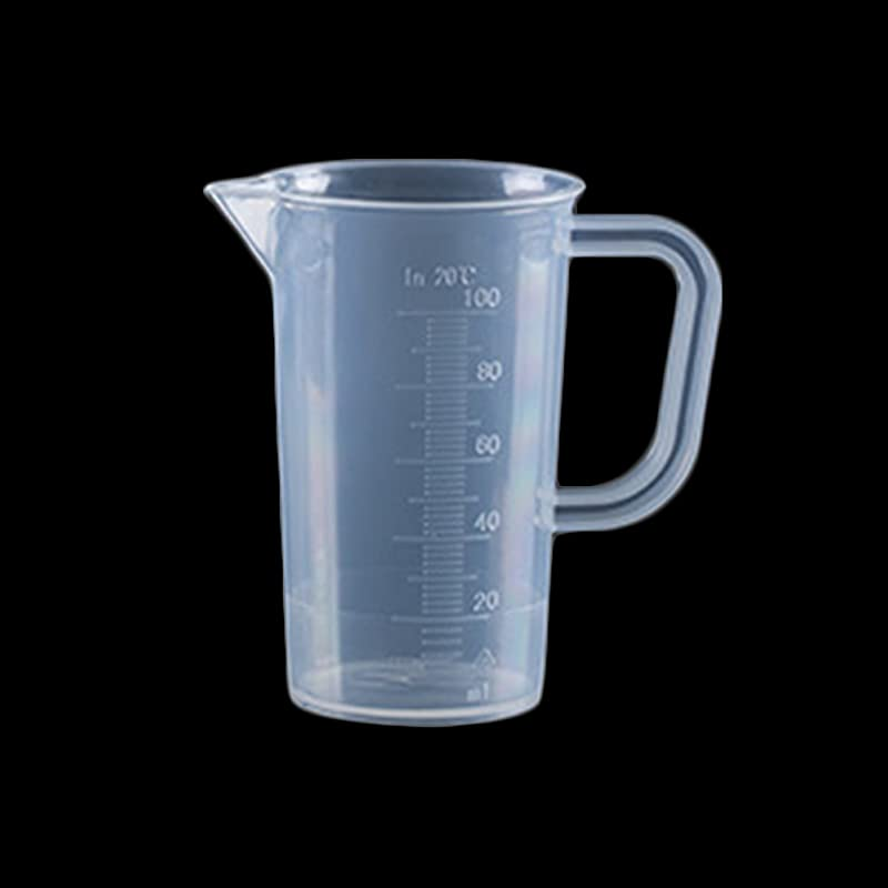 Transparent Beaker Measuring Cup Lab Measuring Cup Plastic Graduated Volumetric Multi Size Container Tool For Kitchen Laboratory 100ML With Handle 9